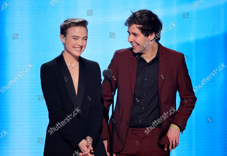 Stock Picture of Maddie Hasson and David Dobrik
