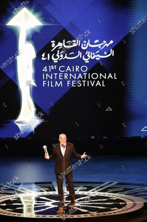 Stock Image of Terry Gilliam receives a Lifetime Achievement Award during the opening ceremony of the 41st Cairo International Film Festival (CIFF), in Cairo, Egypt, 20 November 2019. The CIFF runs from 20 to 29 November.