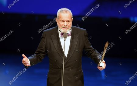 Terry Gilliam receives a Lifetime Achievement Award during the opening ceremony of the 41st Cairo International Film Festival (CIFF), in Cairo, Egypt, 20 November 2019. The CIFF runs from 20 to 29 November.