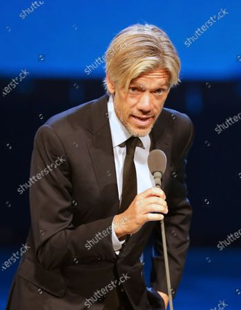 Stock Photo of US writer/director and international jury chairman Stephen Gaghan speaks onstage during the opening ceremony of the 41st Cairo International Film Festival (CIFF), in Cairo, Egypt, 20 November 2019. The CIFF runs from 20 to 29 November.