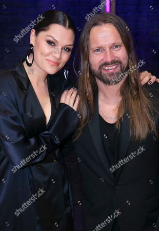 Jessie J and Max Martin backstage