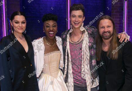 Jessie J, Miriam-Teak Lee (Juliet), Jordan Luke Gage (Romeo) and Max Martin (Music)