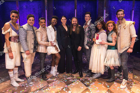 Stock Photo of Arun Blair-Mangat (May), Tim Mahendran (Francois), David Bedella (Lance), Miriam-Teak Lee (Juliet), Jessie J, Max Martin (Music), Jordan Luke Gage (Romeo), Melanie La Barrie (Nurse), Cassidy Janson (Anne) and Oliver Tompsett (Shakespeare)