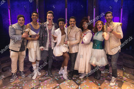 Stock Picture of Tim Mahendran (Francois), Arun Blair-Mangat (May), Jordan Luke Gage (Romeo), Miriam-Teak Lee (Juliet), David Bedella (Lance), Melanie La Barrie (Nurse), Cassidy Janson (Anne) and Oliver Tompsett (Shakespeare)