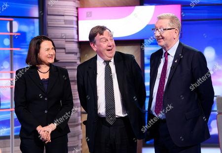 Catherine West, John Whittingdale and Len McCluskey
