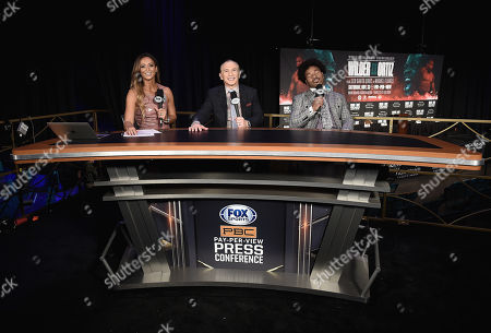 Kate Abdo, Ray Mancini and Shawn Porter