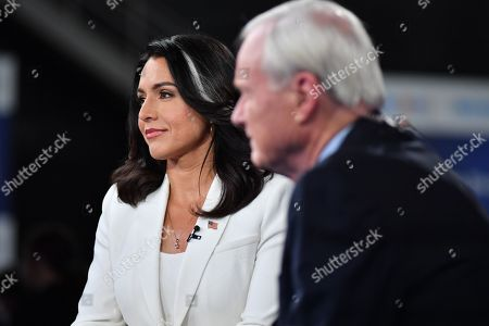 Stock Picture of Tulsi Gabbard and Tom Brokaw
