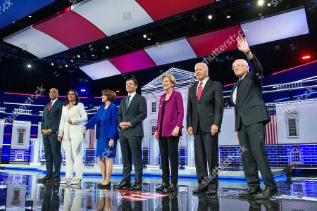 Editorial picture of Democratic Presidential Primary Debate, hosted by MSNBC and The Washington Post, Tyler Perry Studios, Atlanta, USA - 20 Nov 2019