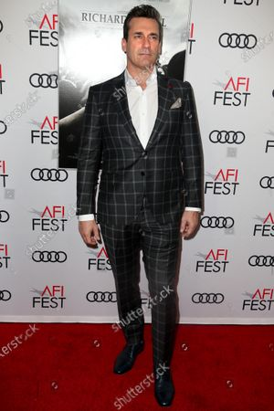 Jon Hamm arrives on the AFI Fest red carpet for the movie 'Richard Jewell' at TCL Chinese Theatre in Los Angeles, California, USA, 20 November 2019. Richard Jewell will be released in theaters on 13 December 2019.