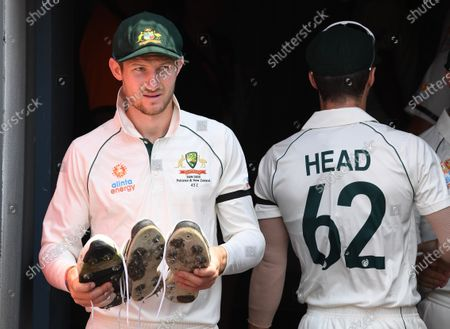 Australian 12th man Cameron Bancroft is seen  during day one of the first Test Match between Australia and Pakistan at the Gabba in Brisbane, Australia, 21 November 2019.