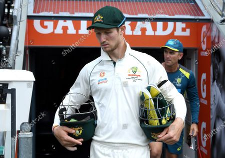 Australias 12th man Cameron Bancroft during day one of the first Test Match between Australia and Pakistan at the Gabba in Brisbane, Australia, 21 November 2019.