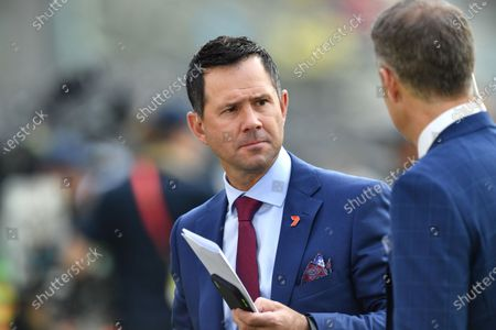 Ricky Ponting is seen during day one of the first Test Match between Australia and Pakistan at the Gabba in Brisbane, Australia, 21 November 2019.