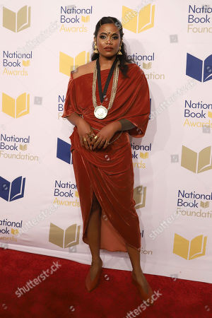 Akwaeke Emezi attends the 70th National Book Awards ceremony and benefit dinner at Cipriani Wall Street, in New York