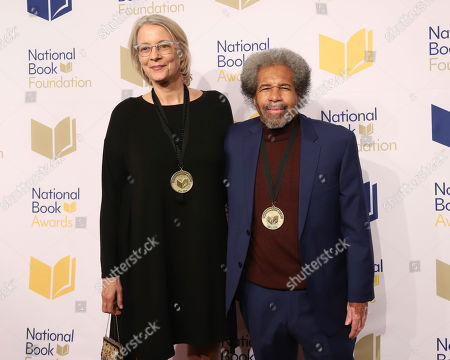 Stock Photo of Leslie George, Albert Woodfox. Leslie George, left, and Albert Woodfox attend the 70th National Book Awards ceremony and benefit dinner at Cipriani Wall Street, in New York