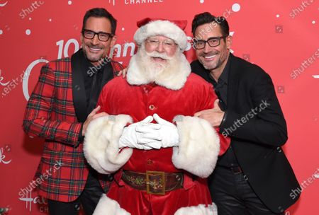 Stock Picture of Lawrence Zarian, Santa Claus and Gregory Zarian
