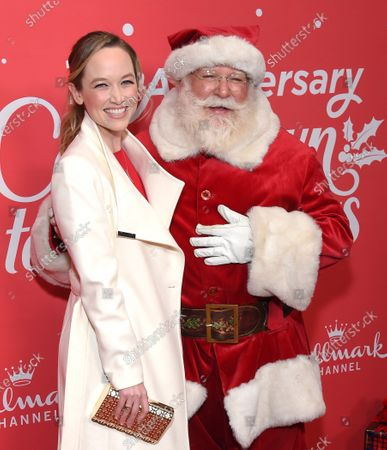 Kelley Jakle and Santa Claus