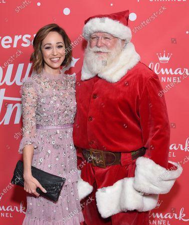 Autumn Reeser and Santa Claus