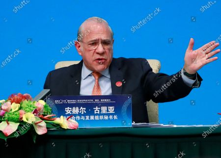 Organization for Economic Cooperation and Development (OECD) Secretary-General Angel Gurria attends a press conference at the Fourth 1+6 Round Table Dialogue at Diaoyutai State Guest House in Beijing, China, 21 November 2019. Chinese Prime Minister Li Keqiang and leading officials from major international financial organizations attended the event for discussions on global economic trends, macro policies coordination and China's economic reform and global economic governance.