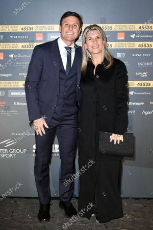 Vice President of Inter Javier Zanetti with wife Paula Zanetti