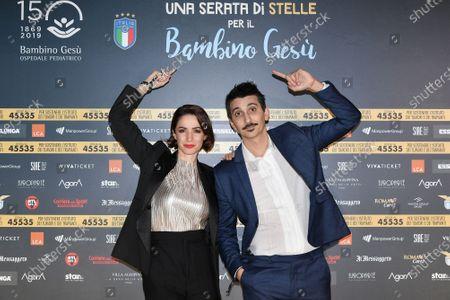 Stock Photo of Andrea Delogu, Fabrizio Biggio