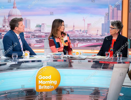 Stock Photo of Ben Shephard and Susanna Reid with Prue Leith