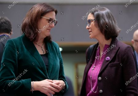 Editorial photo of EU Foreign Affairs Council (Trade) meeting, Brussels, Belgium - 21 Nov 2019