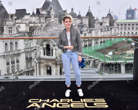 Kristen Stewart attends the Charlie's Angels Photocall in London. Charlie's Angels releases in UK cinemas on the 29th November.