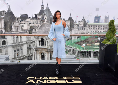 Stock Photo of Ella Balinska attends the Charlie's Angels Photocall in London. Charlie's Angels releases in UK cinemas on the 29th November.