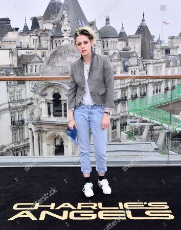 Stock Photo of Kristen Stewart attends the Charlie's Angels Photocall in London. Charlie's Angels releases in UK cinemas on the 29th November.