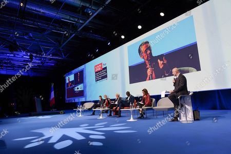 Debate with Elysabeth Borne, Minister of the Ecological and Solidarity transition and Transports and David Lisnard, Mayor of Cannes, Mohamed Gnanaly, Mayor of L'Isle Saint Denis and Jacques Attali President of Positive Planet Foundation