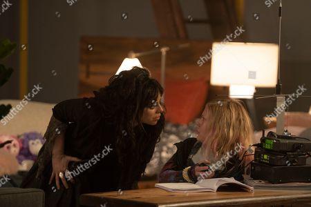 Krysta Rodriguez as Ms. Crumble and Alyvia Alyn Lind as Angelica Green