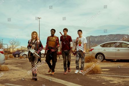 Alyvia Alyn Lind as Angelica Green, Austin Crute as Wesley Fists, Colin Ford as Josh Wheeler and Gregory Kasyan as Eli Cardashyan