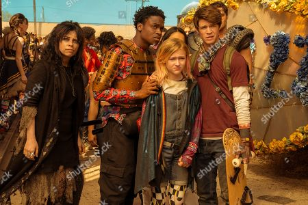 Krysta Rodriguez as Ms. Crumble, Austin Crute as Wesley Fists, Alyvia Alyn Lind as Angelica Green and Colin Ford as Josh Wheeler