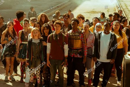 Alyvia Alyn Lind as Angelica Green, Krysta Rodriguez as Ms. Crumble, Colin Ford as Josh Wheeler and Austin Crute as Wesley Fists