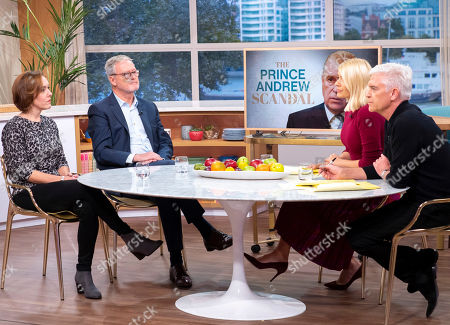 Phillip Schofield and Holly Willoughby with Camilla Tominey and Phil Hall