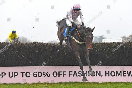 Rough Knight ridden by Tom O?Brien and trained by Alex Hales go over the last in The Smith and Williamson Accountancy Steeplchase during Horse Racing at Wincanton Racecourse on 21st November 2019