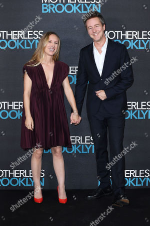 Stock Picture of Shauna Robertson and Edward Norton