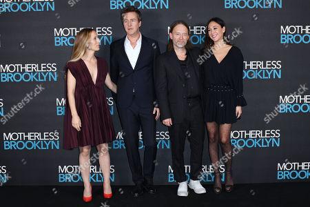 Shauna Robertson, Edward Norton, Thom York and Dajana Roncione