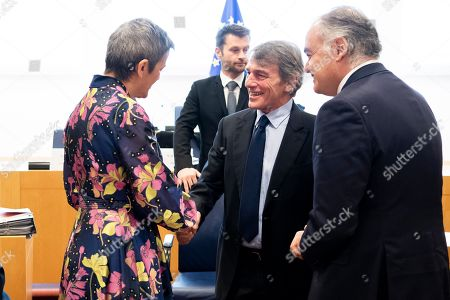 Margrethe Vestager, Esteban Gonzalez Pons and David Sassoli