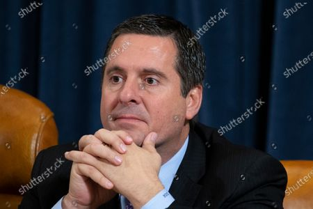 Republican Representative from California Devin Nunes attends the House Permanent Select Committee on Intelligence public hearing on the impeachment inquiry into US President Donald J. Trump, on Capitol Hill in Washington, DC, USA, 21 November 2019. The impeachment inquiry is being led by three congressional committees and was launched following a whistleblower's complaint that alleges US President Donald J. Trump requested help from the President of Ukraine to investigate a political rival, Joe Biden and his son Hunter Biden.