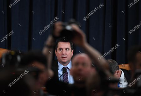 Representative Devin Nunes (R-CA) is seen before David A. Holmes, Department of State political counselor for the United States Embassy in Kyiv, Ukraine and Dr. Fiona Hill, former National Security Council senior director for Europe and Russia appeared before the House Intelligence Committee during an impeachment inquiry hearing at the Longworth House Office Building in Washington, DC, USA, 21 November 2019.