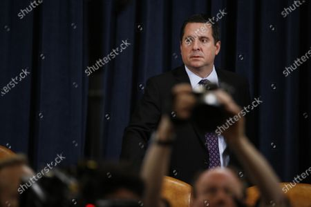Representative Devin Nunes, a Republican from California and ranking member of the House Intelligence Committee, arrives during the House Intelligence Committee impeachment inquiry hearing in Washington, D.C., USA, 21 November 2019, on President Donald Trump's efforts to tie U.S. aid for Ukraine to investigations of his political opponents.