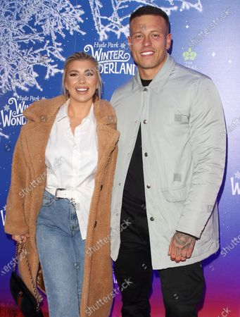 Olivia Buckland and Alex Bowen attend the Winter Wonderland VIP launch night at Hyde Park in London.