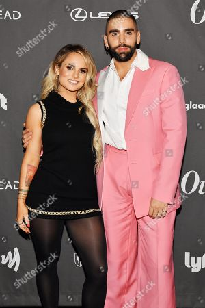 Jojo Levesque and Phillip Picardi at theÊOutÊmagazine Out100 Event, presented by Lexus