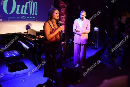 Raquel Willis and Phillip Picardi at the Out magazine Out100 Event, presented by Lexus