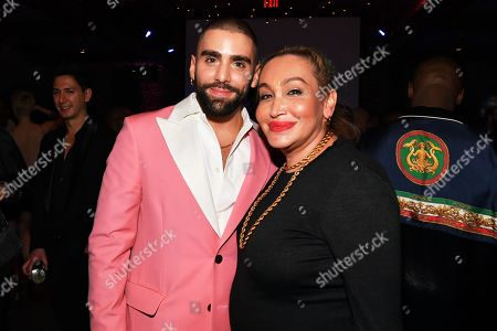 Phillip Picardi and Cecilia Gentili at the Out Magazine Out100 Event, presented by Lexus
