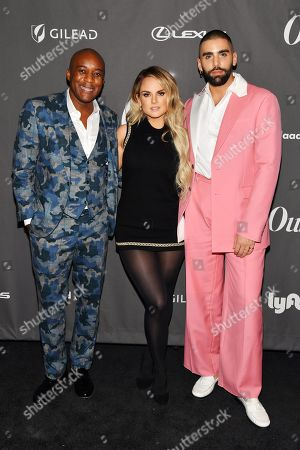 Orlando Reece, JoJo and Phillip Picardi at the Out Magazine Out100 Event, presented by Lexus