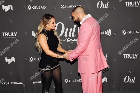 Jojo Levesque and Phillip Picardi at the Out Magazine Out100 Event, presented by Lexus