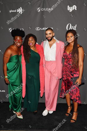 Jasmyne Cannick, Phillip Picardi and Raquel Willis at theÊOutÊmagazine Out100 Event, presented by Lexus