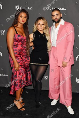 Raquel Willis, Joanna Levesqueand Phillip Picardi at theÊOutÊmagazine Out100 Event, presented by Lexus